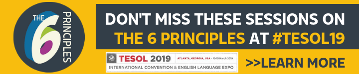 TESOL 2019 Sessions Banner