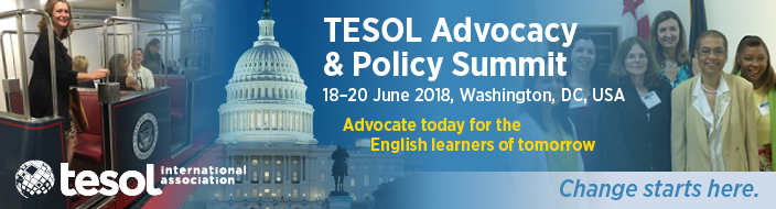 TESOL 2018 Advocacy & Policy Summit Banner